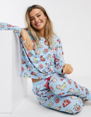 Chelsea Peers dog print pajamas