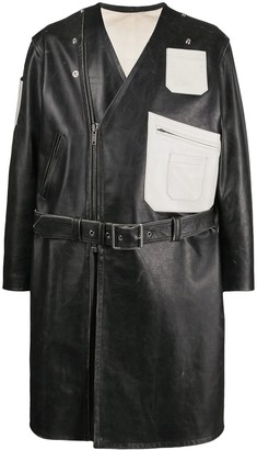 Raf Simons Off-Centre Zipped Leather Jacket