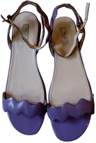 Prada Purple Patent leather Sandals