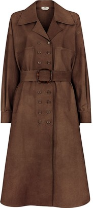 Fendi Double-Breasted Belted Trench Coat