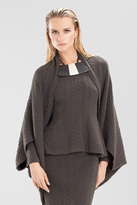 Josie Natori Textured Knit Jacquard Sweater