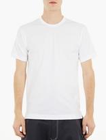 Comme des Garcons White Cotton Long-Line T-Shirt