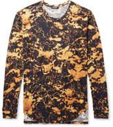 Balmain Slim-fit Bleached Cotton-jersey T-shirt - Yellow