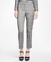 Brooks Brothers Wool-Blend Glen Plaid Pants