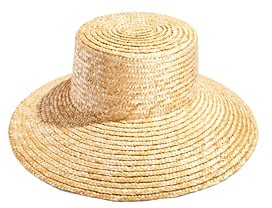Aqua Bloom Straw Boater Hat - 100% Exclusive