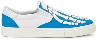 Amiri Blue Skeleton Canvas And Leather Skate Sneakers
