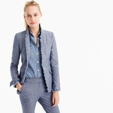 J.Crew Tall chambray Regent blazer with ruffle trim