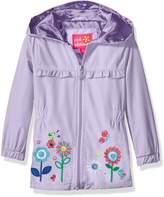 Pink Platinum Toddler Girls' Garden Applique Windbreaker