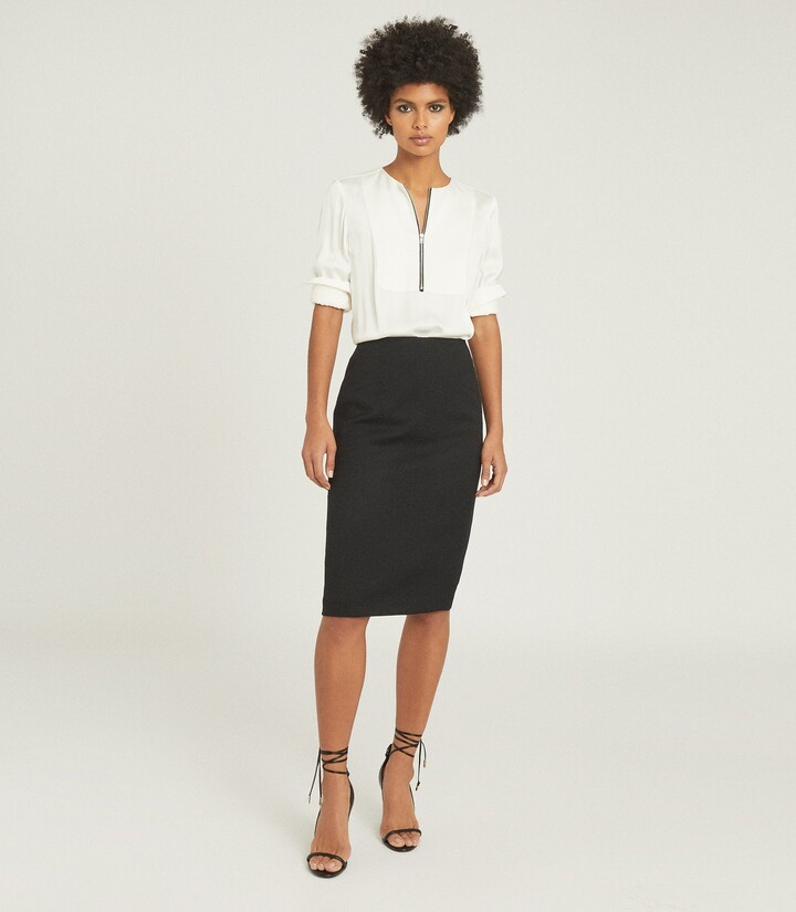 Reiss Hayes - Tailored Pencil Skirt in Black