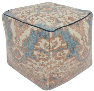 Pottery Barn Persian Printed Pouf