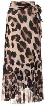 Ganni Leopard-print maxi skirt