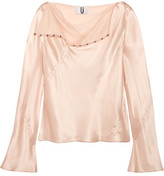 Topshop Silk-satin Top - Blush