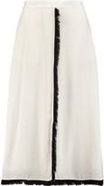 By Malene Birger Nutakan fringed silk crepe de chine skirt