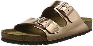 Birkenstock Women's Arizona Open Back Slippers Gold (Metallic Copper) 39 EU