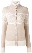 Loro Piana cashmere high neck buttoned cardigan - women - Mink Fur/Cashmere - 44