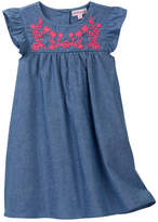 Design History Embroidered Chambray Dress (Little Girls)