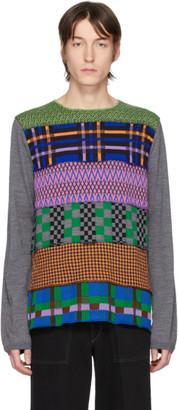 Comme des Garcons Multicolor Multipattern Wool Gauge 14 Sweater
