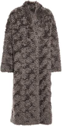 Brunello Cucinelli Oversized Bead-embellished Brushed Mohair-blend Coat