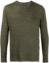 Roberto Collina patch-pocket long sleeved T-shirt