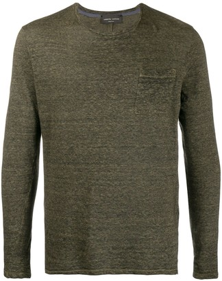 Roberto Collina patch-pocket long sleeved T-shirt