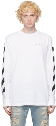 Off-White White Pencil Arch Long Sleeve T-Shirt