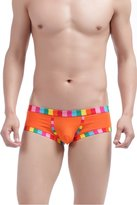 Louis Rouse Men's Fashion Rainbow Cotton Comfy Boxer Trunks (M, )