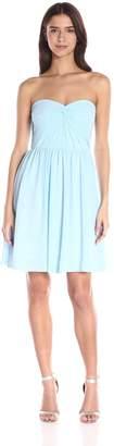 Minuet Women's Twist Ruched Bodice Short Dress