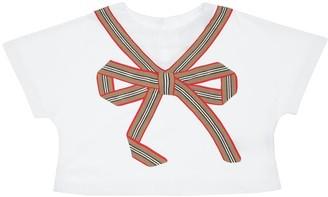 Burberry Bow Print Cotton Jersey T-Shirt