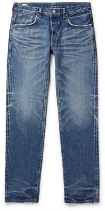 Edwin Slim-Fit Tapered Distressed Selvedge Denim Jeans
