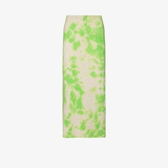 The Elder Statesman Hot Heavy tie-dye cashmere skirt