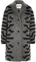 Kenzo Striped Felt Coat - Gray