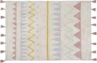Lorena Canals Geometric Tassel Rug