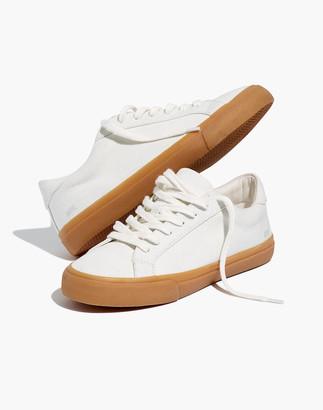 Madewell Women's Sidewalk Low-Top Sneakers in Monochrome Canvas
