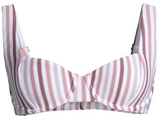 Peony Swimwear Soiree Striped Balconette Bikini Top