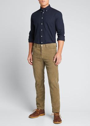 Gitman Brothers Shirt Co. Men's Solid Flannel Button-Collar Sport Shirt
