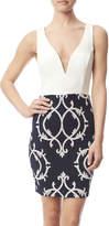 Celine White Blue Jacquard Dress