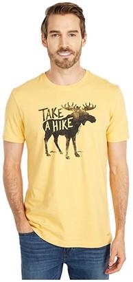Life is Good Take A Hike Moose Crusher Tee (Baja Yellow) Men's Clothing