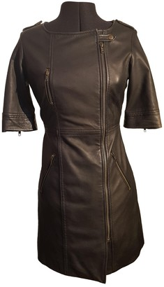 Supertrash Black Leather Dress for Women