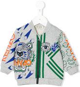 Kenzo multi-print zipped sweatshirt - kids - Cotton - 9 mth