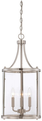 Helmsman Lighting Works 3-Light Small Foyer Lantern, Satin Nickel