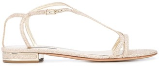 Casadei open toe side buckle sandals