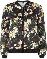**Izabel London Black Floral Bomber Jacket