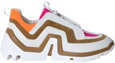 Pierre Hardy vibe paneled sneakers multicolor