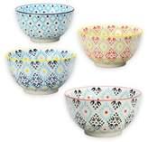 Signature Housewares Printed 5-Inch Utility Bowls (Set of 4)