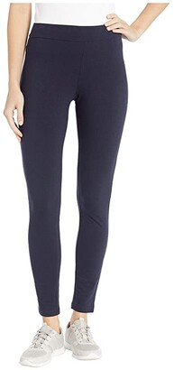 Hue Wide Waistband Blackout Cotton Leggings (Black) Women's Casual Pants