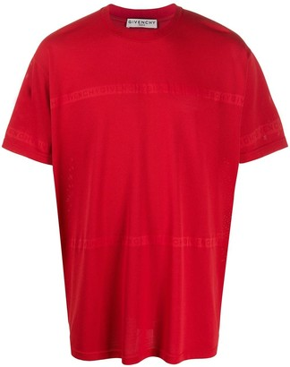 Givenchy Over-sized Tonal Logo T-shirt Red