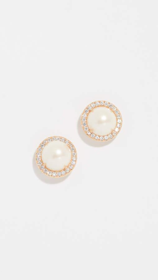 Kate Spade Pave Halo Stud Earrings