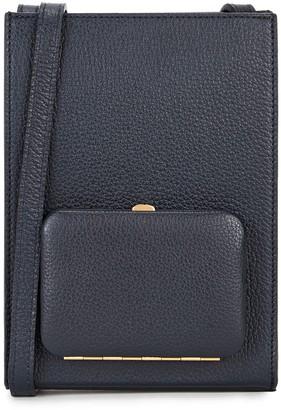 Lutz Morris Parker Navy Leather Cross-body Bag