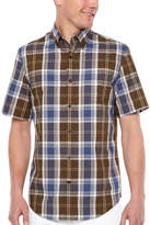 M·A·C Big Mac Mens Short Sleeve Moisture Wicking Plaid Button-Front Shirt
