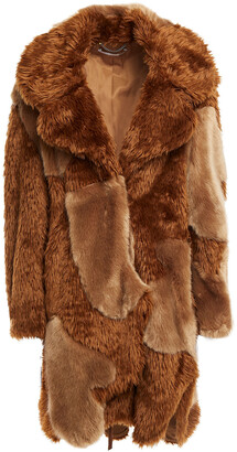 Stella McCartney Patchwork-effect Faux Fur Coat
